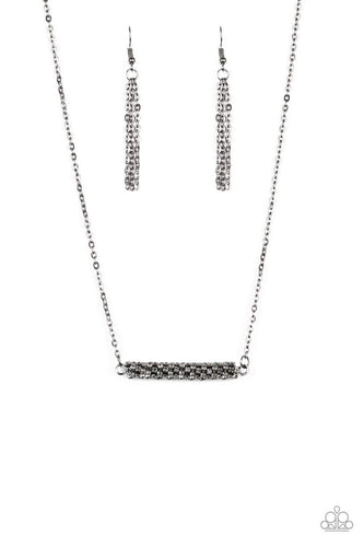 Paparazzi: Timelessly Twinkling - Black Rhinestone Necklace