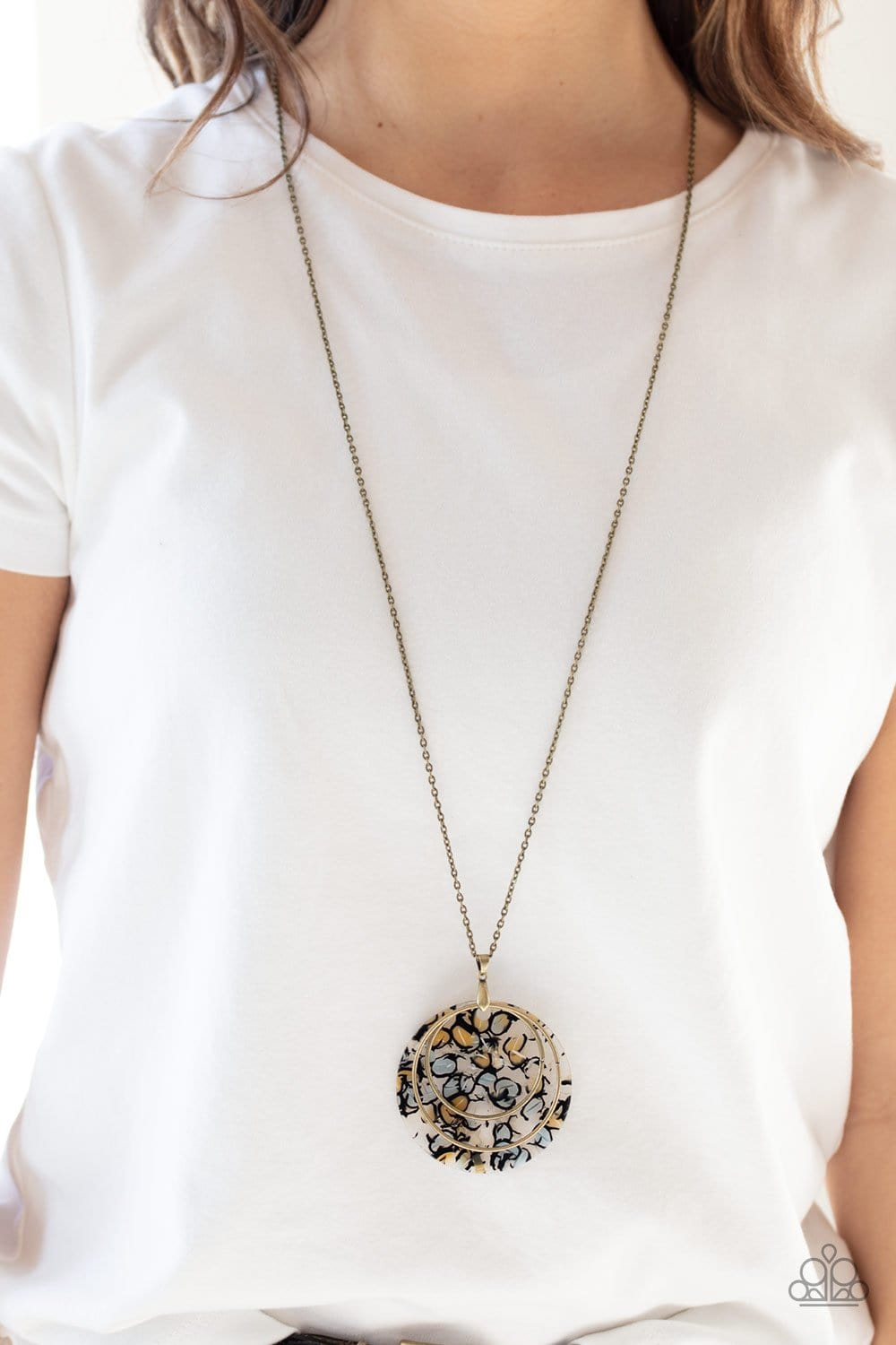 Paparazzi: Metro Mosaic - Brass Necklace - Jewels N' Thingz Boutique