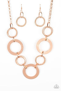Paparazzi: Ringed in Radiance - Copper Necklace