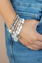 Load image into Gallery viewer, Paparazzi: No CHARM Done - White Bracelet