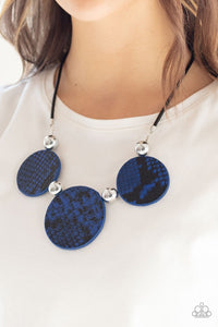 Paparazzi: Viper Pit - Blue Python Necklace - Jewels N' Thingz Boutique
