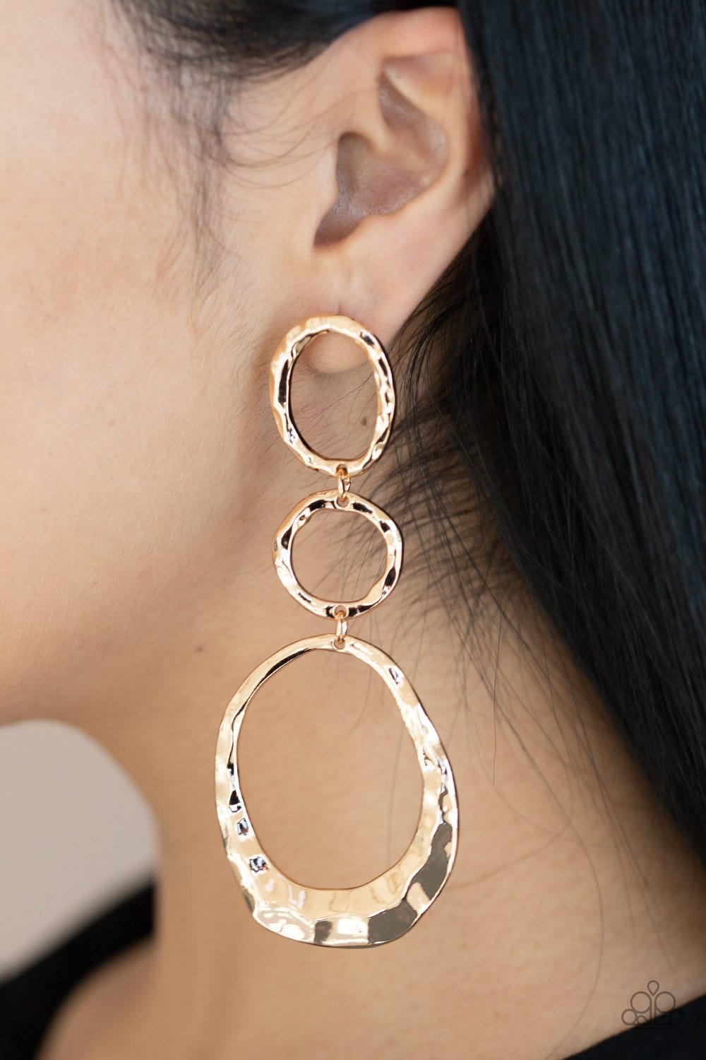 Paparazzi: Radically Rippled - Gold Hoop Earrings - Jewels N' Thingz Boutique