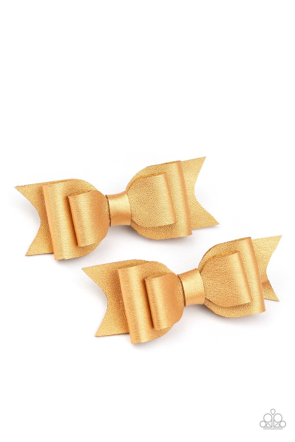Paparazzi: Totally BOWS My Mind! - Gold Hair Clips - Jewels N' Thingz Boutique