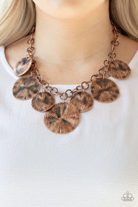 Paparazzi: Barely Scratched The Surface - Copper Necklace - Jewels N' Thingz Boutique