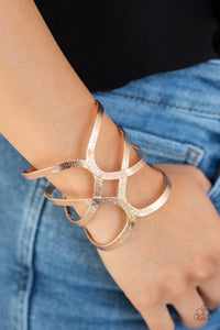 Paparazzi: Crossing The Finish Line - Rose Gold Cuff Bracelet