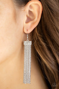 Paparazzi: Twinkling Tapestry - White Earrings - Jewels N' Thingz Boutique