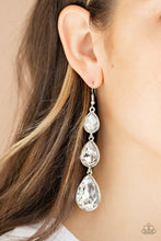 Load image into Gallery viewer, Paparazzi: Metro Momentum - White Rhinestone Earrings - Jewels N' Thingz Boutique