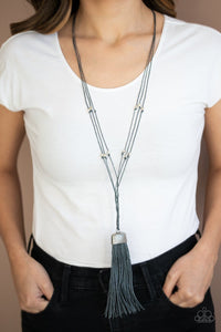 Paparazzi: Brush It Off - Silver Tassel Necklace - Jewels N' Thingz Boutique