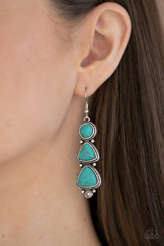 Paparazzi: New Frontier - Blue Earrings