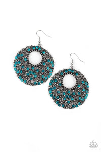 Starry Showcase - Blue Earrings: Paparazzi - Jewels N' Thingz Boutique
