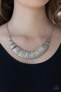 Paparazzi: Metallic Mechanics - Silver Necklace