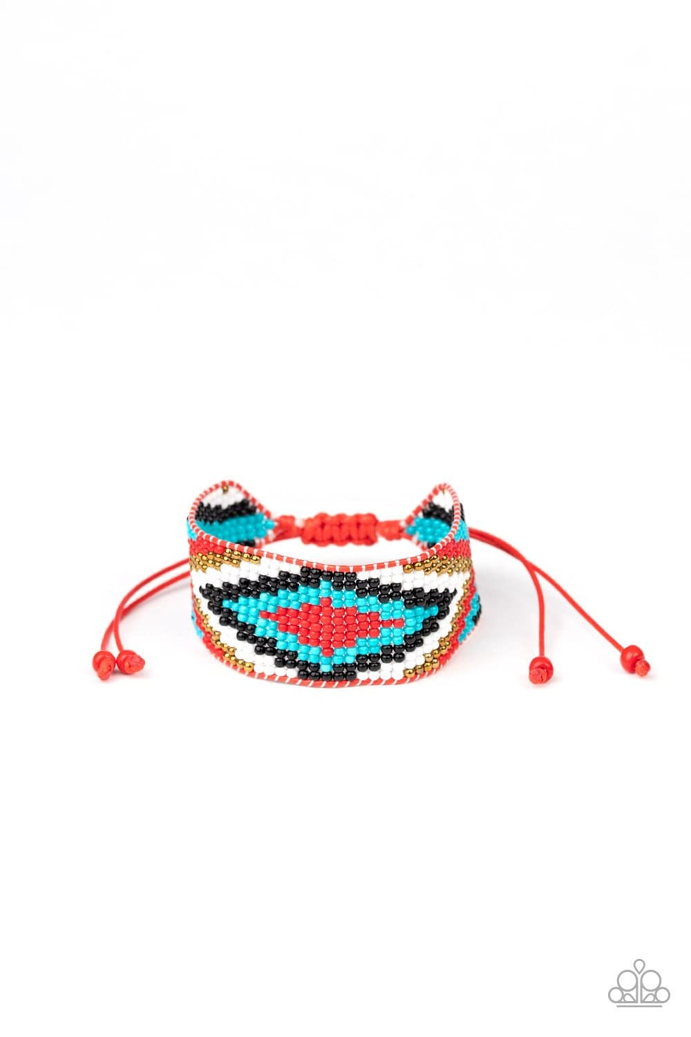 Paparazzi: Beautifully Badlands - Red Seed Bead Bracelet