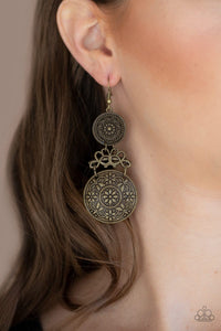 Paparazzi: Garden Adventure - Brass Earrings