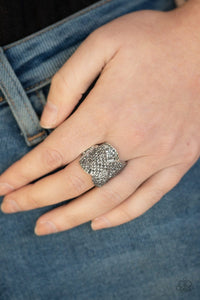 Paparazzi: Scandalous Shimmer - Silver Hematite Ring - Jewels N' Thingz Boutique