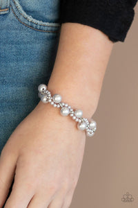 Paparazzi: Utmost Uptown - Silver Pearl Bracelet - Jewels N' Thingz Boutique
