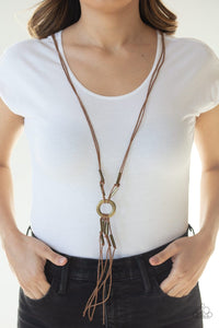 Paparazzi: Tasseled Trinket - Brass Necklace - Jewels N' Thingz Boutique