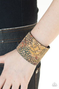 Paparazzi: Cork Culture - Multi Floral Bracelet - Jewels N' Thingz Boutique