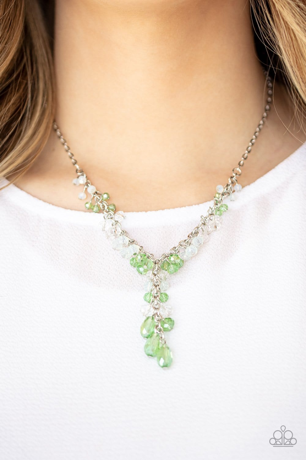 Paparazzi:Iridescent Illumination - Green Necklace