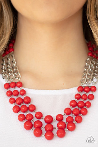 Paparazzi: A La Vogue - Red Beaded Necklace