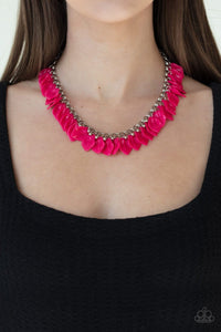 Paparazzi: Super Bloom - Pink Acrylic Necklace - Jewels N' Thingz Boutique