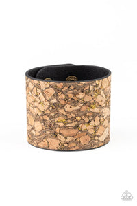 Paparazzi: Cork Congo - Brass Bracelet - Jewels N' Thingz Boutique