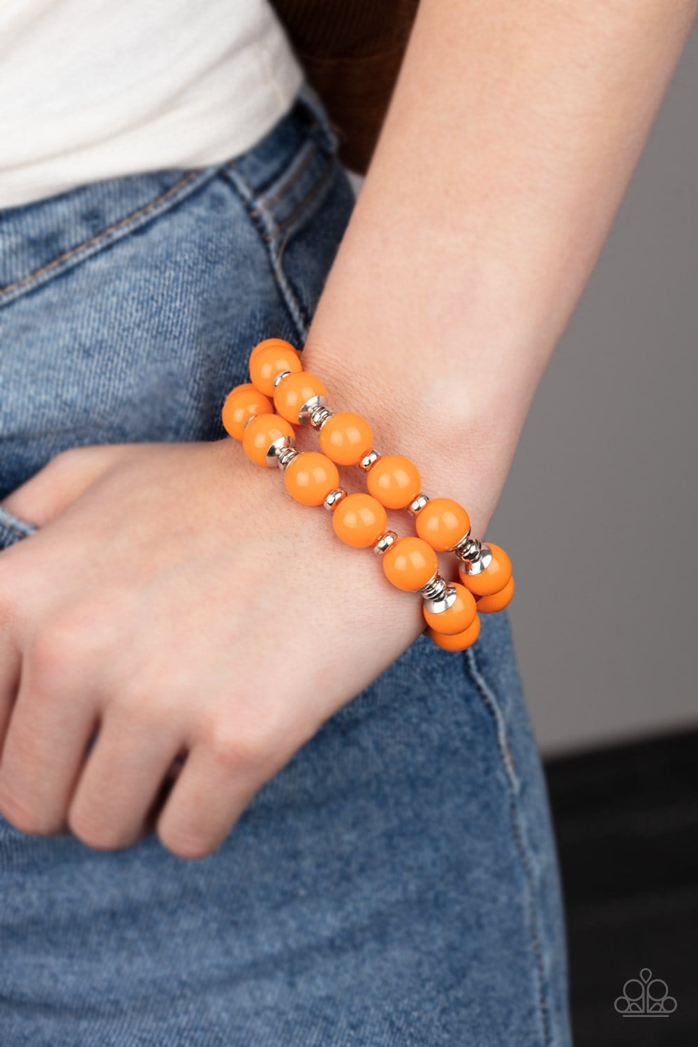 Paparazzi: Bubble Blast Off - Orange Bead Bracelet - Jewels N' Thingz Boutique