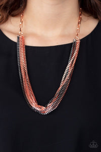 Paparazzi: Beat Box Queen - Copper Chain Necklace