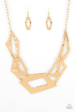 Load image into Gallery viewer, Paparazzi: Break The Mold - Gold Necklace