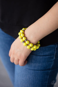 Paparazzi: Bubble Blast Off - Yellow Bracelet