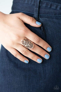 Paparazzi: Vine Vibe - Copper Antiqued Ring - Jewels N' Thingz Boutique