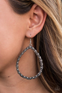 Paparazzi: Galaxy Gardens - Silver Hematite Earring - Jewels N' Thingz Boutique