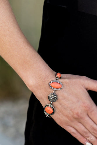 Paparazzi: Gorgeously Groundskeeper - Orange Antiqued Bracelet - Jewels N' Thingz Boutique