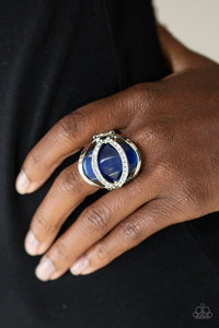 Paparazzi: Endless Enchantment - Blue Rhinestones Ring - Jewels N' Thingz Boutique