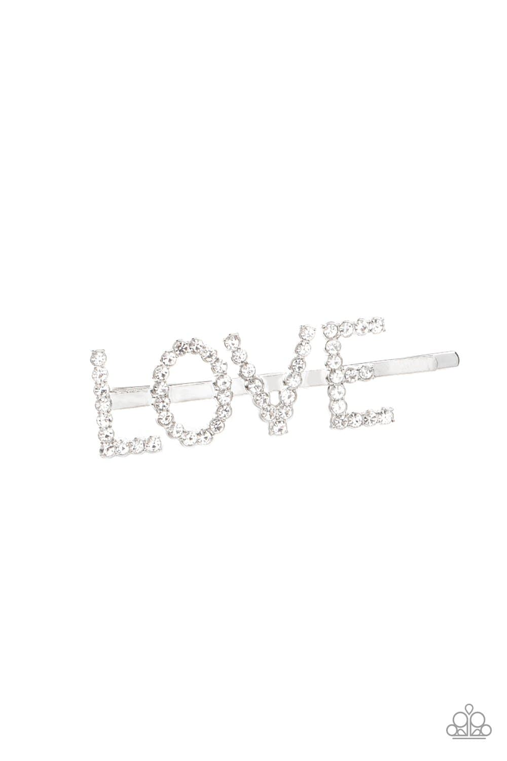 Paparazzi: All You Need Is Love - White Bobby Pin - Jewels N' Thingz Boutique