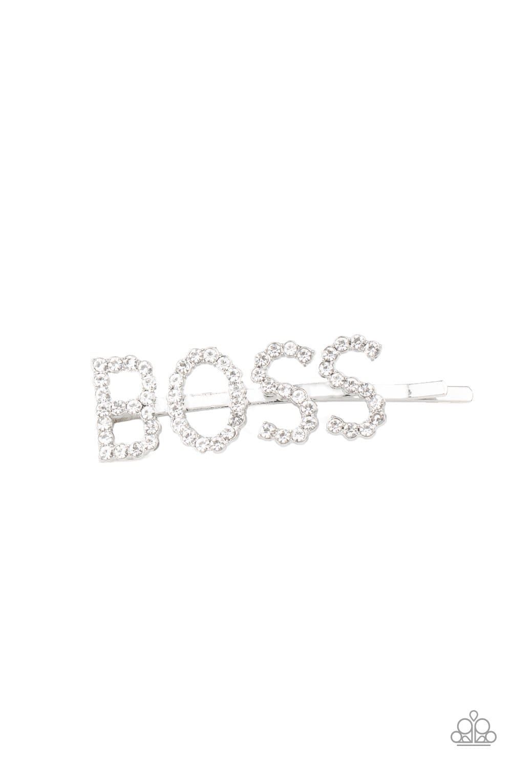 Paparazzi: Yas Boss! - White Bobby Pin - Jewels N' Thingz Boutique