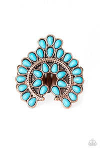 Paparazzi: Trendy Talisman - Copper/Turquoise Ring - Jewels N' Thingz Boutique