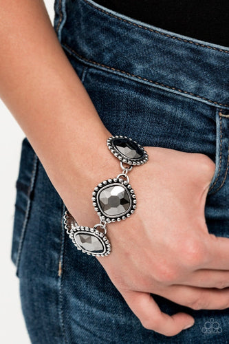Paparazzi: Megawatt - Silver Hematite Bracelet - Jewels N' Thingz Boutique