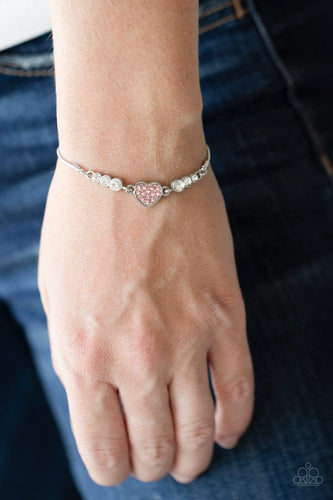 Paparazzi Accessories: Big-Hearted Beam Bracelet - Life Of The Party Exclusive