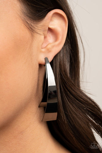 Paparazzi: Underestimated Edge - Silver Earrings - Jewels N' Thingz Boutique