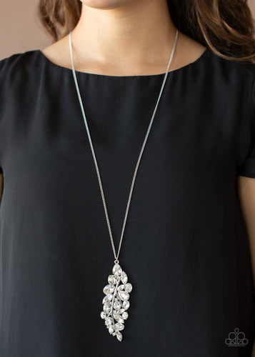 Paparazzi: Take A Final BOUGH - Silver Rhinestone Necklace - Jewels N' Thingz Boutique