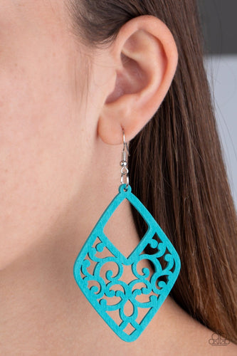 Paparazzi: VINE For The Taking - Blue Earrings