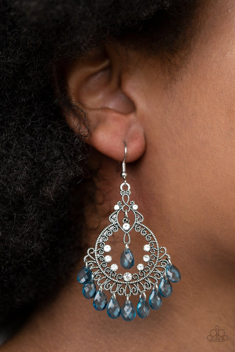 Paparazzi Accessories: Lyrical Luster - Blue Teardrop Earrings