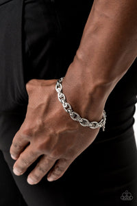 Paparazzi: Gridiron Grunge - Silver - Silver Bracelet - Jewels N' Thingz Boutique