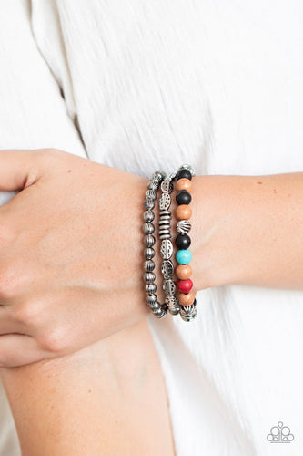 Paparazzi Accessories: Trail Mix Mecca - Multi Bracelet