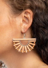 Load image into Gallery viewer, Paparazzi Accessories: Wooden Wonderland - Brown Earrings