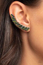 Load image into Gallery viewer, Paparazzi Accessories: I Think ICE Can - Multi Oil Spill Rhinestone Ear Crawlers