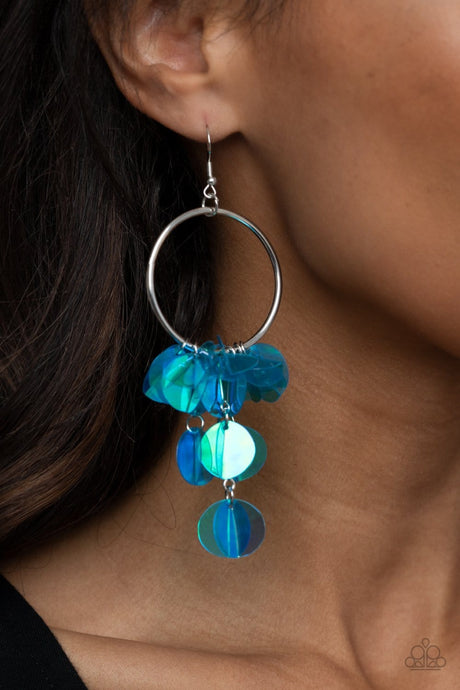 Paparazzi Accessories: Holographic Hype - Blue Iridescent Earrings