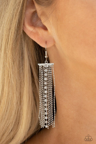 Paparazzi Accessories: Another Day, Another DRAMA - White Earrings