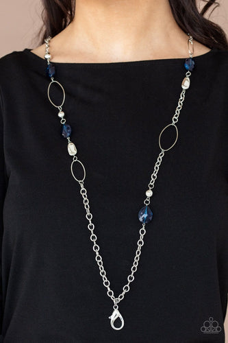 Paparazzi Accessories: SHEER As Fate - Blue Lanyard