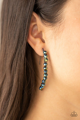 Paparazzi Accessories: GLOW Hanging Fruit - Multi Iridescent Earrings